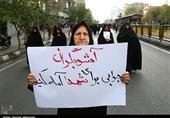 حضور فعال خانواده شهدا و ایثارگران در تجمعات حمایت از امنیت+تصاویر
