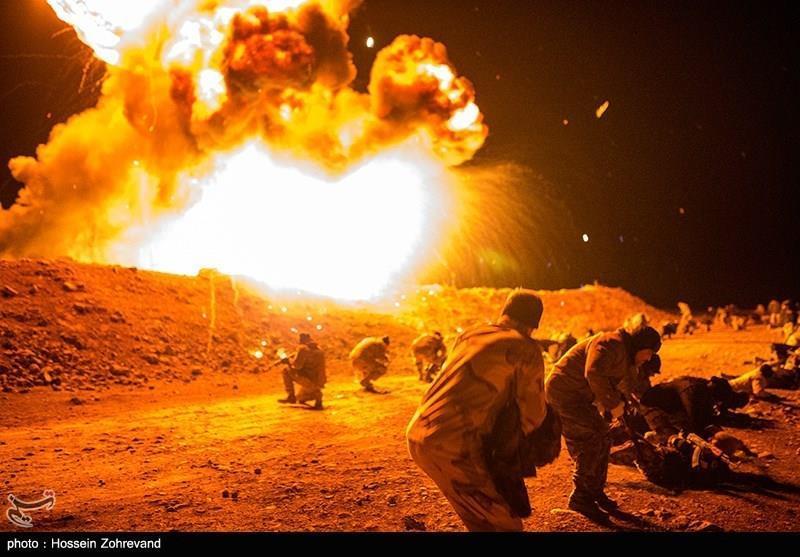 Basij Special Forces Take Aerial Practice