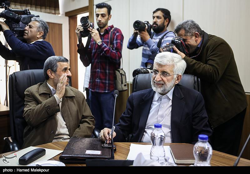سعید جلیلی و محمود احمدینژاد در جلسه مجمع تشخیص مصلحت نظام