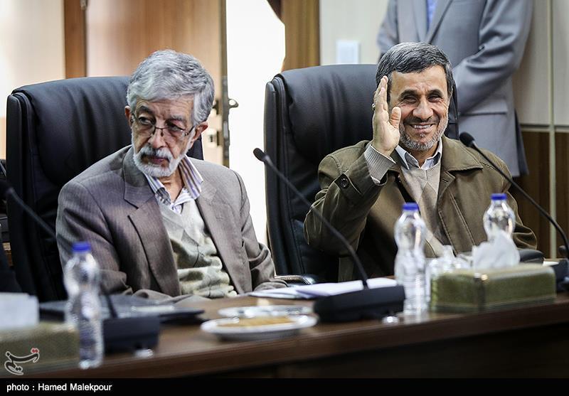 محمود احمدینژاد و غلامعلی حدادعادل در جلسه مجمع تشخیص مصلحت نظام