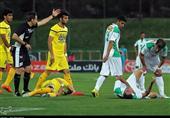 لیگ برتر فوتبال| برتری نفت مسجدسلیمان مقابل ذوبآهن در 45 دقیقه اول