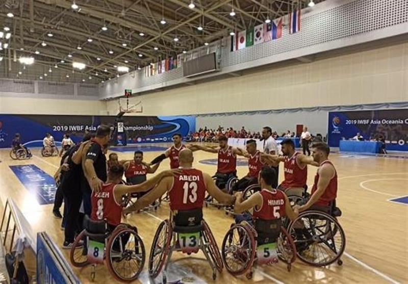 بسکتبال با ویلچر قهرمانی آسیا-اقیانوسیه| عبور تیم مردان ایران از دیوار چین/ مرتضی عابدی امتیازآورترین بازیکن میدان شد