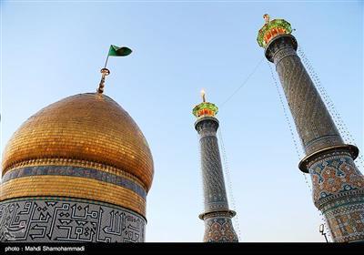 آئین تعویض پرچم گنبد حرم حضرت عبدالعظیم حسنی(ع)