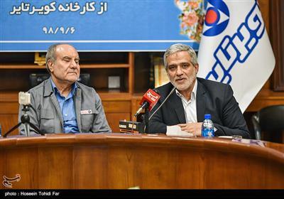 مجید قلی زاده مدیرعامل خبرگزاری تسنیم و سیدمحمدحسین زینلی مدیرعامل شرکت کویرتایر