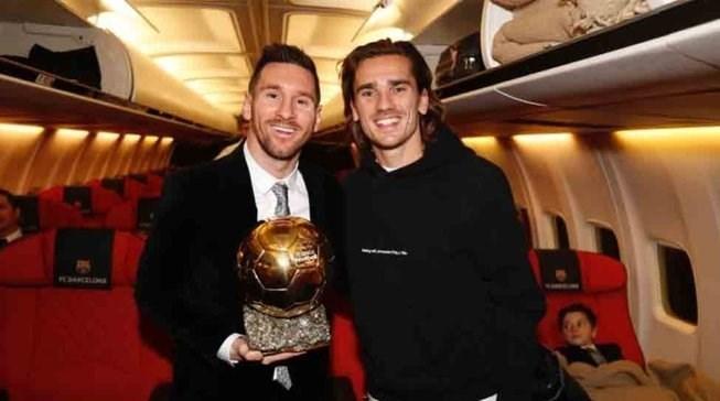 آنتوان گریزمان , تیم فوتبال بارسلونا , مراسم اهدای توپ طلا ,