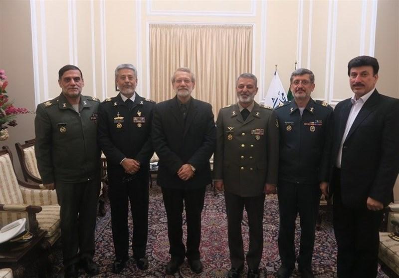 فرمانده ارتش با رئیس مجلس دیدار کرد