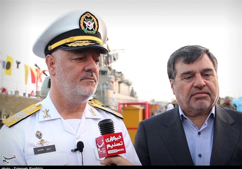 فرمانده نیروی دریایی ارتش: آمریکاییها تاثیری در امنیت خلیج فارس ندارند / کشتیهای آنها در بنادر پهلو گرفتهاند + فیلم