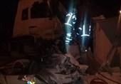 تصادف مرگبار کامیون با تریلر + عکس