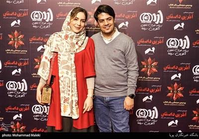 اشکان رهگدر کارگردان به همراه همسرش در اکران خصوصی انیمیشن آخرین داستان