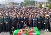 یکر پاک شهیدان سپیدرو و کاظمی در شادگان تشییع شد