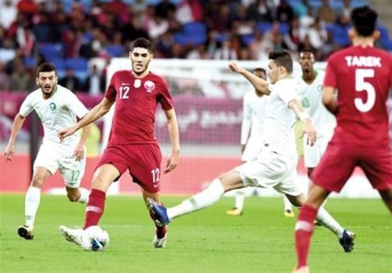تشویق تیم ملی فوتبال عربستان توسط هواداران قطری در دوحه!