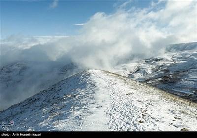 بارش برف در ارتفاعات قزوین
