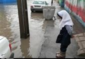 آبگرفتگی مجدد خیابانهای اهواز + فیلم