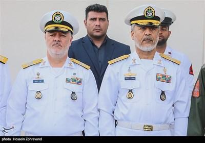 امیر دریادار حبیب الله سیاری، رئیس ستاد و معاون هماهنگ کننده ارتش و امیر دریادار حسین خانزادی فرمانده نیروی دریایی ارتش