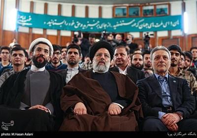 حضور حجتالاسلام سیدابراهیم رئیسی رئیس قوه قضاییه در دانشگاه تهران به مناسبت روز دانشجو