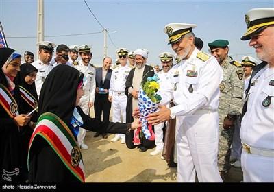 استقبال از امیر دریادار حبیب الله سیاری، رئیس ستاد و معاون هماهنگ کننده ارتش و امیر دریادار حسین خانزادی فرمانده نیروی دریایی ارتش