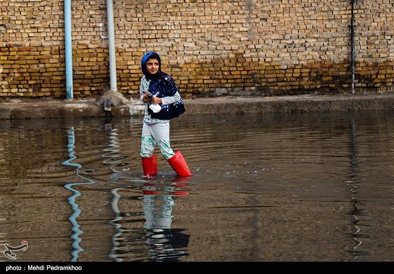 روزگار سخت مردم در منطقه محروم اهواز / طغیان مجدد فاضلاب و آبگرفتگی خیابانهای کوت عبدالله + تصاویر