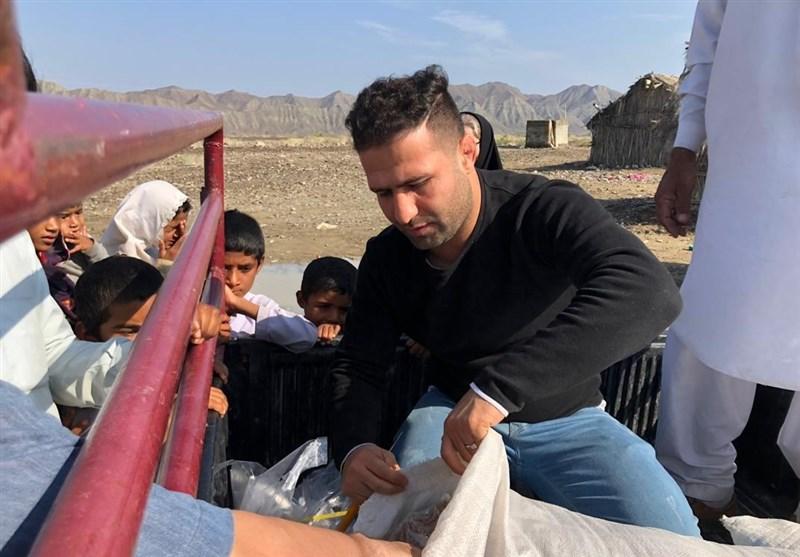 حضور رحیمی و جمعی از پیشکسوتان کشتی در روستاهای منطقه محروم کشاری
