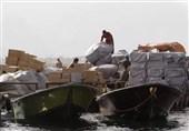 """دریابانی استان بوشهر 34 میلیارد ریال کالای قاچاق در آبهای """"گناوه"""" کشف کرد"""