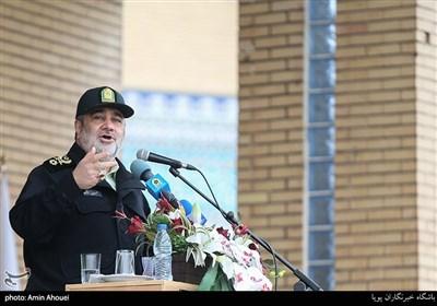 سخنرانی سردار حسین اشتری فرمانده نیروی انتظامی در رزمایش طرح ترافیکی زمستانی 98