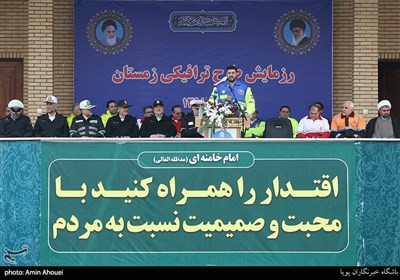 سخنرانی پیرحسین کولیوند رئیس سازمان اورژانس در رزمایش طرح ترافیکی زمستانی 98
