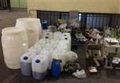 سپاه قشم باند تولید و توزیع مشروبات الکی را متلاشی کرد/کشف 10 هزار و 380 لیتر مشروبات الکلی دستساز