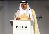 دیدار وزیر خزانهداری آمریکا با امیر قطر
