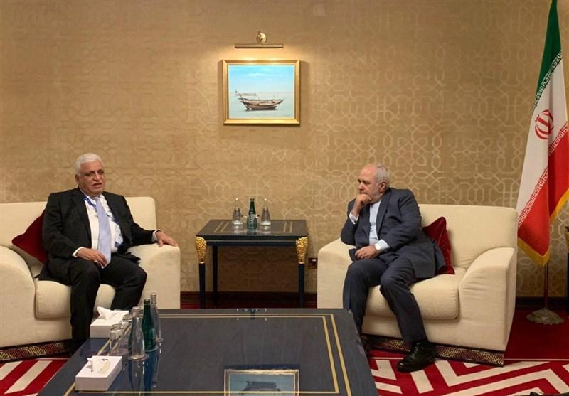 مستشار الامن الوطنی العراقی یلتقی ظریف فی الدوحة