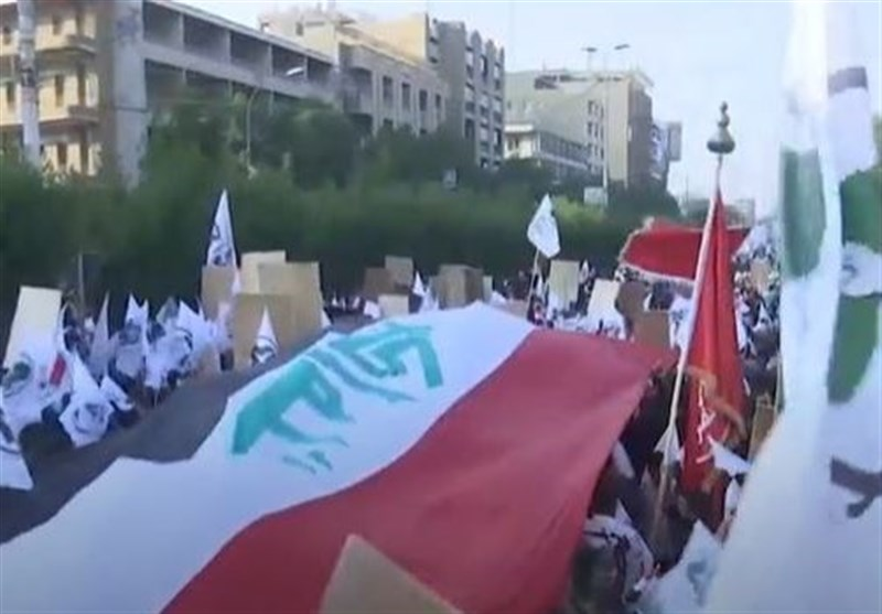 Hashd Sha'abi Supporters Hold Mass Rally in Baghdad, Condemn US Sanctions (+Video)