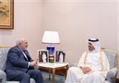 ظریف با نخست وزیر قطر دیدار کرد
