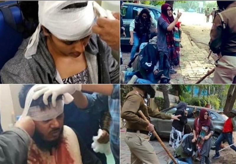 گزارش تصویری  سرکوب شدید مسلمانان معترض توسط نظامیان هندی و زخمی شدن بیش از 100 نفر