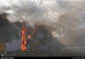 باد گرم شدید عامل حریق علفزارهای گیلان؛ چند انبار ضایعات در شهر صنعتی رشت طعمه آتش شد