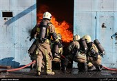 مانور عملیاتی سازمان آتش نشانی تهران