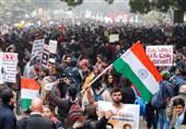 صدها هزار نفر از مردم هند در اعتراض به تصویب قانون تبعیض مذهبی باز هم به خیابانها آمدند