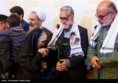 بزرگداشت حسین خسروخاور جانباز 70درصد دفاع مقدس در استان یزد