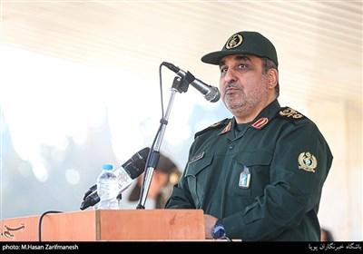 سخنرانی سردار سید مهدی فرحی فرمانده قرارگاه مهارت آموزی کارکنان وظیفه درمراسم اعطای گواهینامه مهارتی به 1700 نفر از سربازان وظیفه