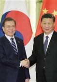 دیدار رئیس جمهور کره جنوبی با همتای چینی