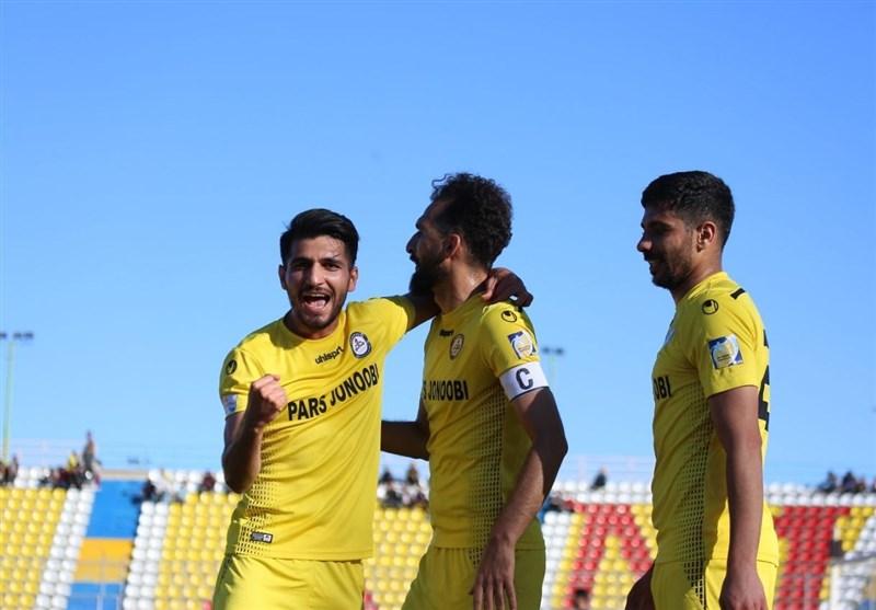 لیگ برتر فوتبال  دومین پیروزی فصل پارس جنوبی در جدال تیمهای بدون سرمربی