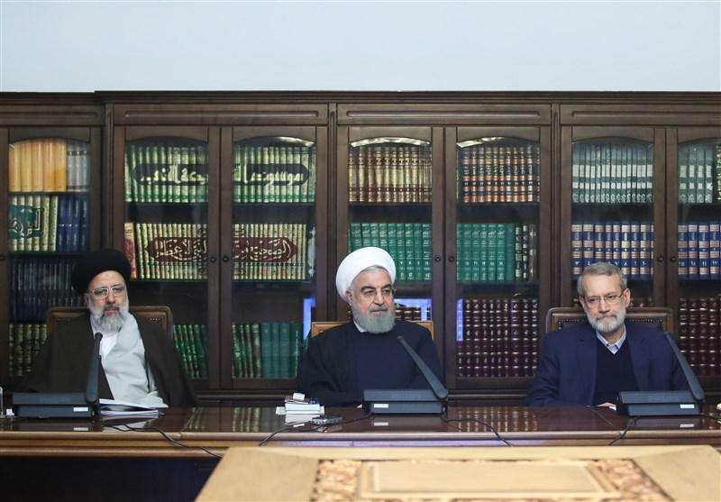 نتیجه تصویری برای بررسی راههای گسترش مبادلات ارزی و تجاری ایران در جلسه امروز سران قوا