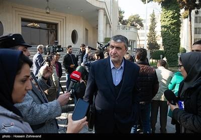 محمد اسلاميان وزیر راه و شهرسازی درحاشیه جلسه هیئت دولت