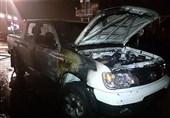 آتشسوزی در پارکینگ شرکت خودروسازیزامیاد + تصاویر