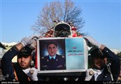 تشییع پیکر امیر سرتیپ دوم خلبان شهید محمدرضا رحمانی