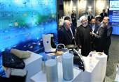 Iranian President Visits Petrochemical Industry Exhibition