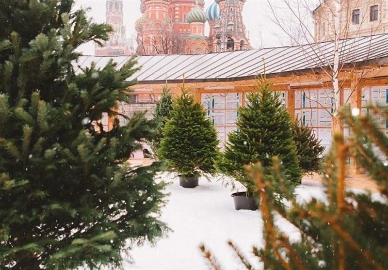 بارش برف مصنوعی در مرکز مسکو + فیلم