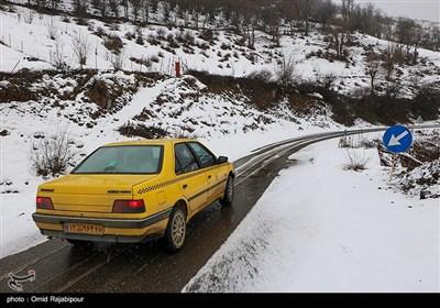 بارش برف در روستای لشکان - گیلان