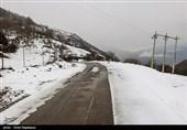 محور بافت – کرمان به دلیل بارش برف مسدود شد