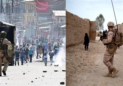 آغاز موج جدید حملات نظامیان هندی به مردم معترض کشمیر