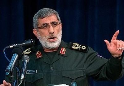 العمید قاآنی: جبهات المقاومة تخطو خطوة کبیرة کل یوم فی مواجهة أمریکا وإسرائیل
