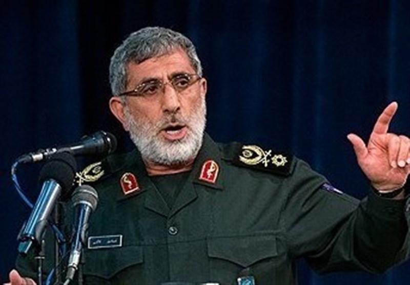 سردار قاآنی: میدانیم به چه زبانی با آمریکا صحبت کنیم/ خون شهدای مقاومت راه قدس را آزاد خواهد کرد,