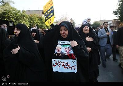 راهپیمایی سراسری در پی شهادت سپهبد شهید قاسم سلیمانی - گرگان